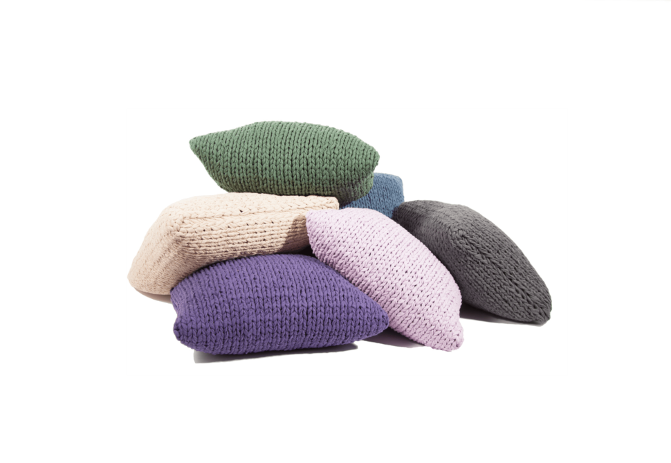 Knitted Pillow Covers Set Crop