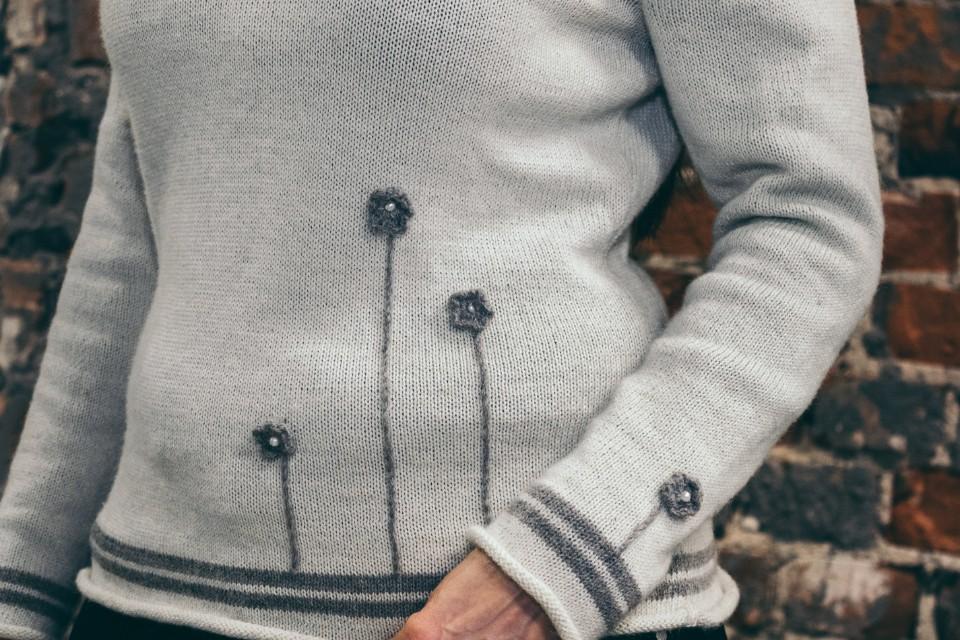 Sweater Rose Closeup